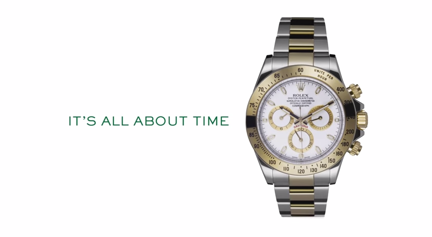 Rolex, « It's all about time »
