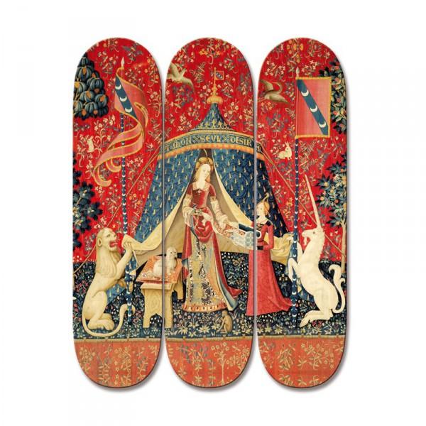 Skateboard dame a la licorne
