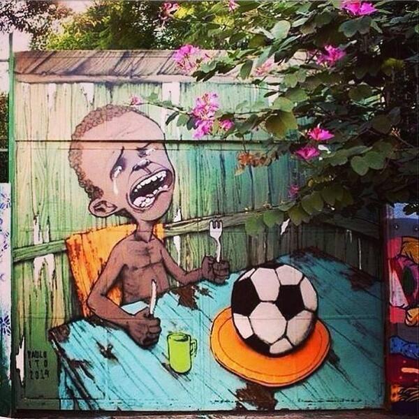 Le street art de Paulo Ito, critique sensationnelle du mondial au Brésil