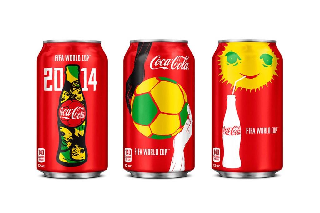 Nouveaux modèles de canettes Coca-Cola pour la Coupe du Monde