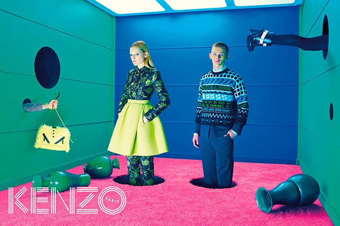 Campagne Automne/Hiver de Kenzo par ToiletPaper