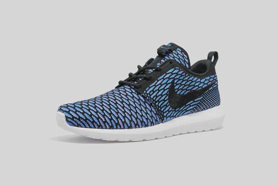 Nike Flyknit Roshe Run Black / Neon Turquoise