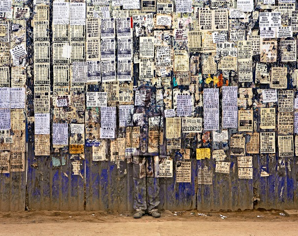 Liu Bolin Hinding in the City Invisible Man