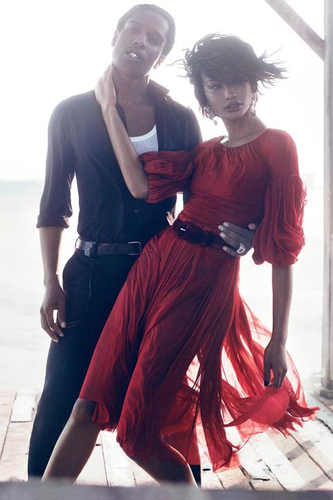 A$AP Rocky et Chanel Iman pour Vogue