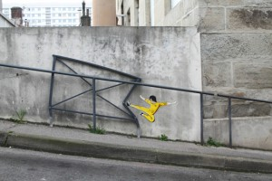 street art Bruce Lee OaKoAk