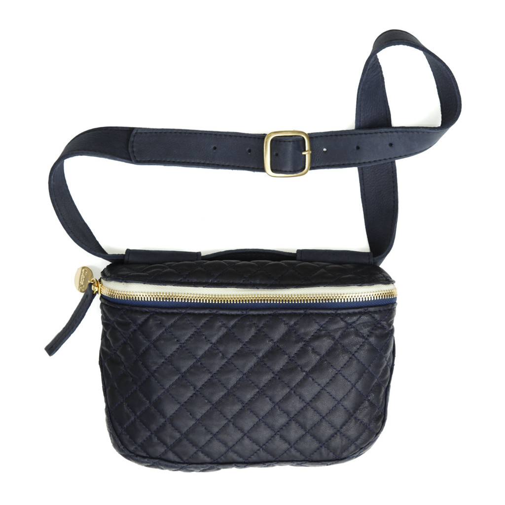 ClareV Navy Quilted Fannypack