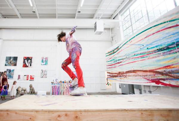 Matt Reilly Skateboard Painting