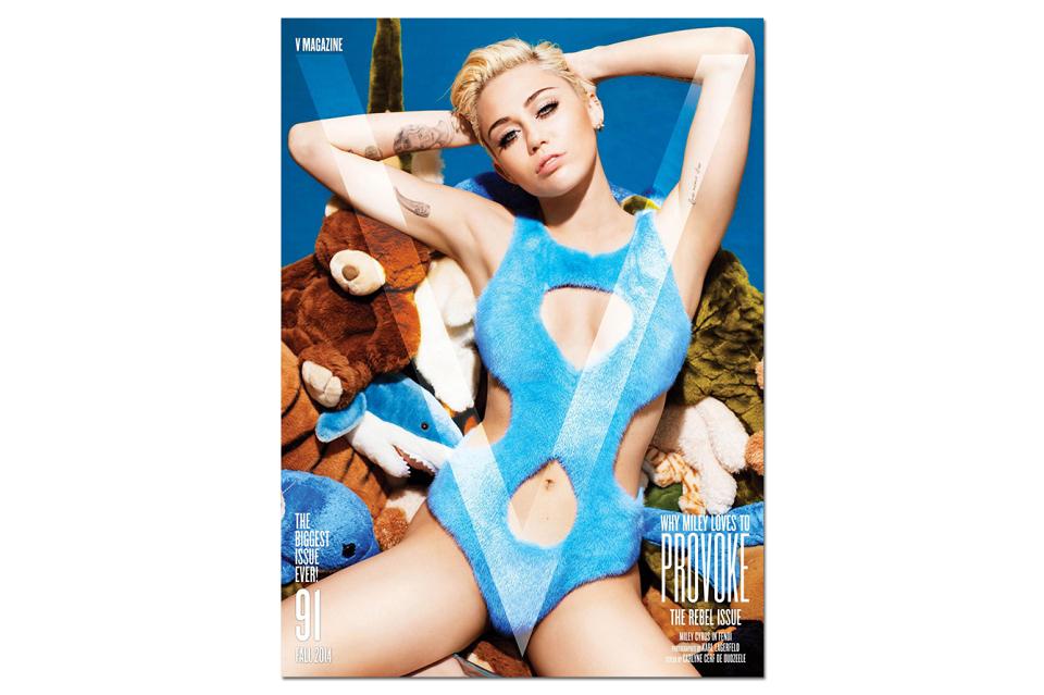 Miley Cyrus par Karl Lagarfeld pour V Magazine