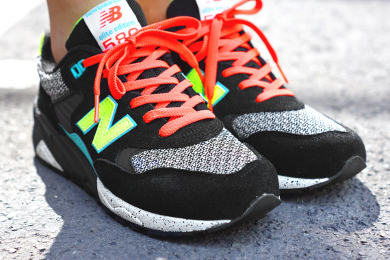 new balance 580 noir jaune orange