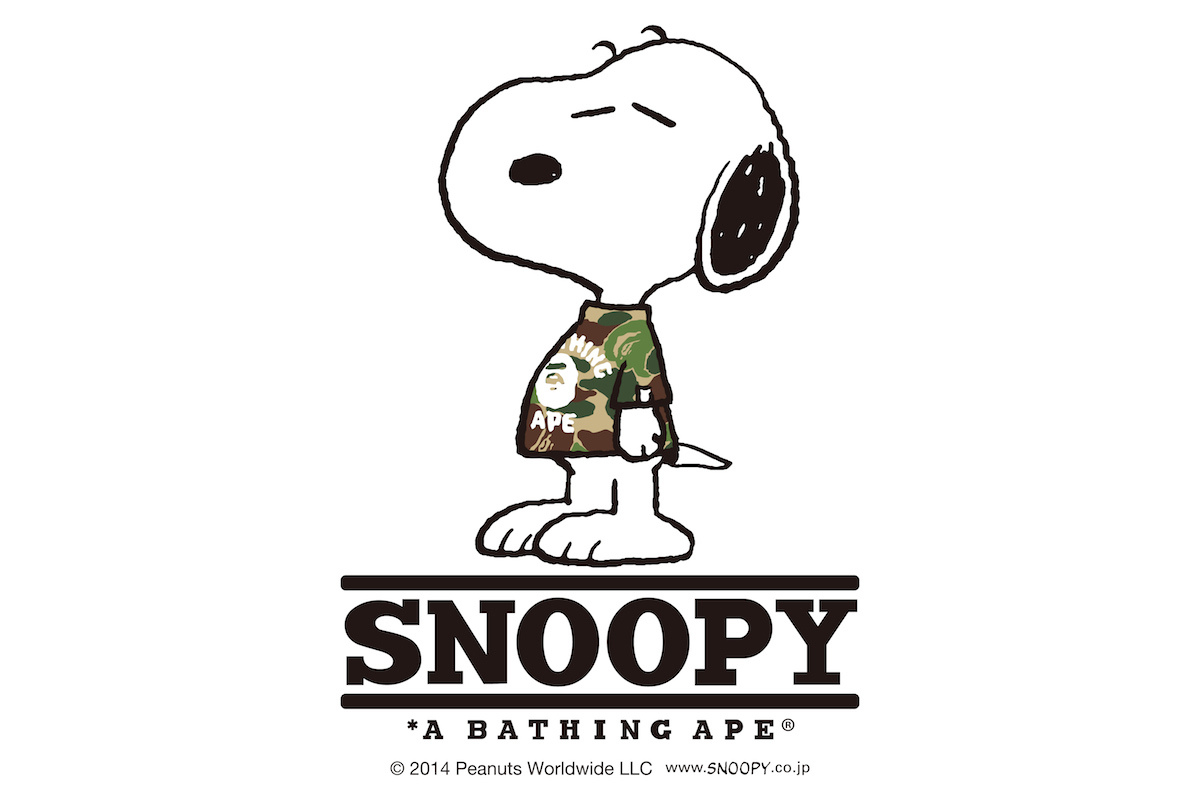 Snoopy x A Bathing Ape collection automne / hiver 2014