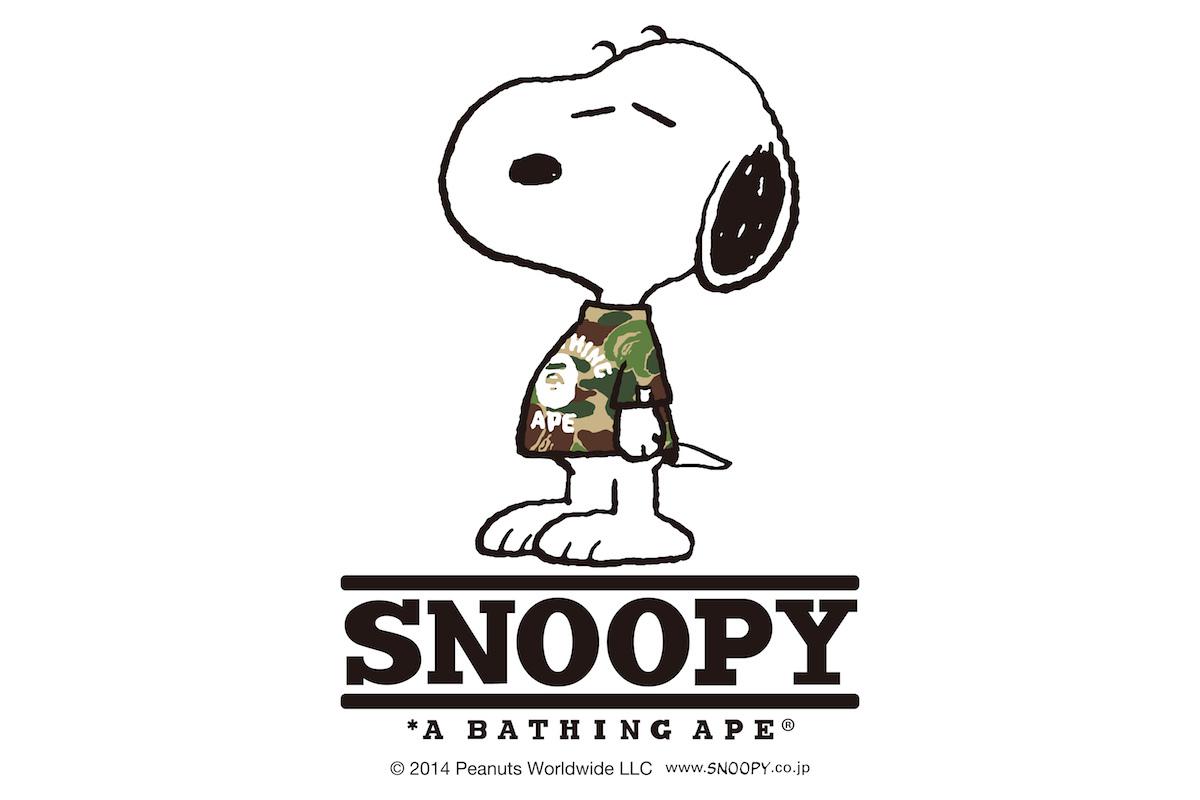 Snoopy et les Peanuts x A Bathing Ape : Collection Automne / Hiver 2014