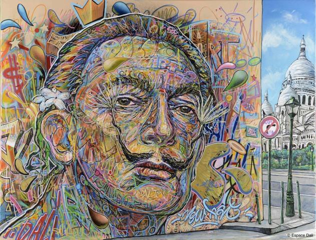 Quand le street art rencontre Salvador Dali