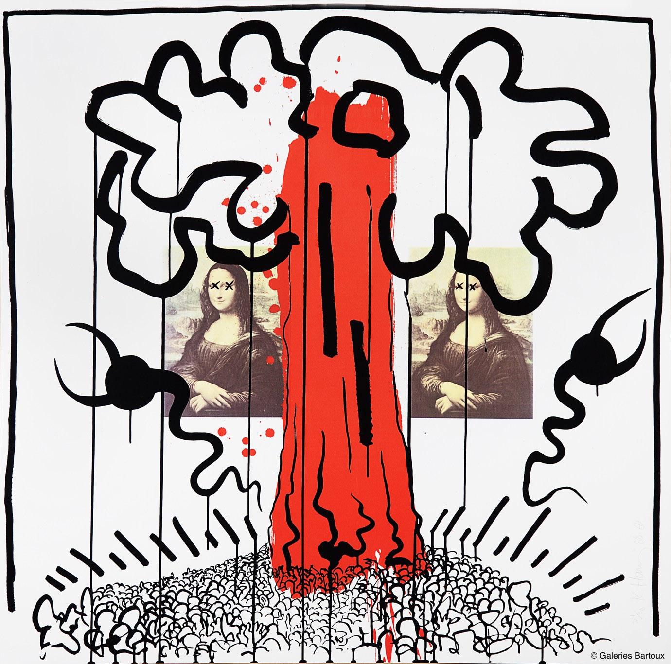 Dali Fait Le Mur Keith Haring