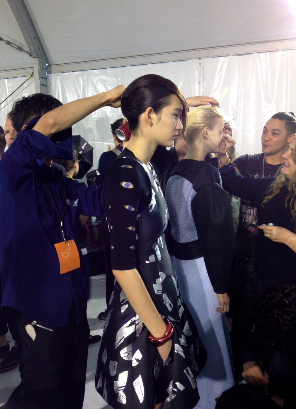 Kenzo SS15 - Backstage on Trends Periodical