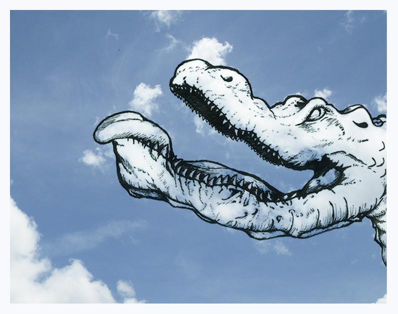 Martín Feijoó Shaping Clouds Creepy Croco