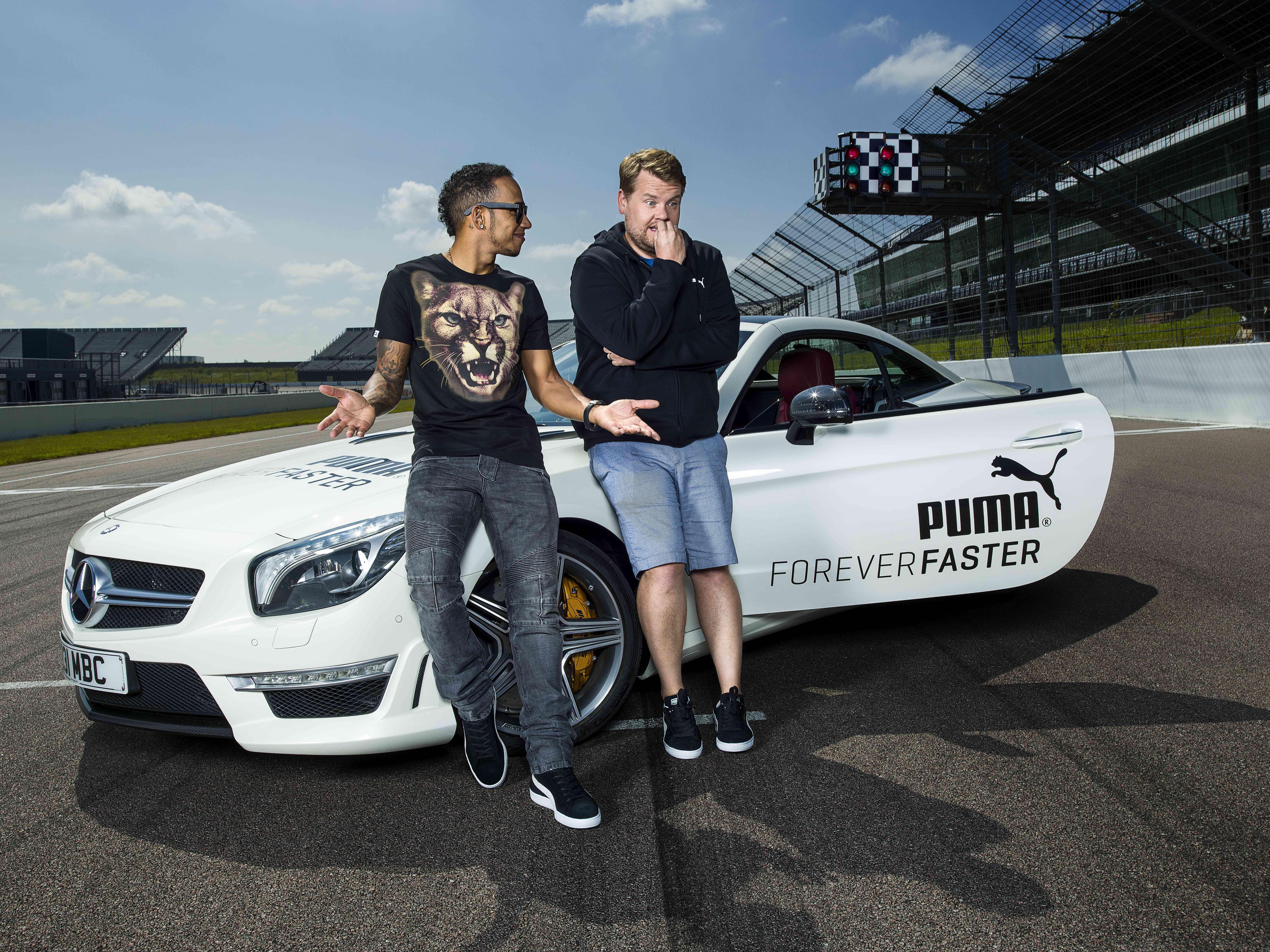 Lewis Hamilton et l'interview la plus rapide du Monde pour Puma