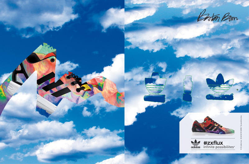 Adidas originals x boston bun : adidas zx flux
