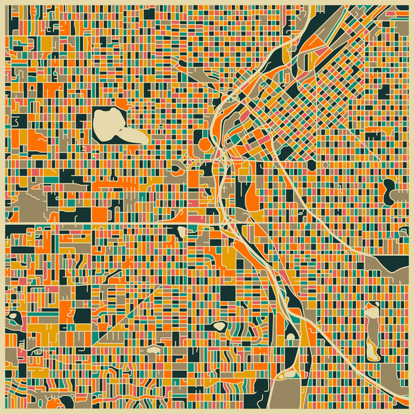 Cartographie Denver Jazzberry Blue