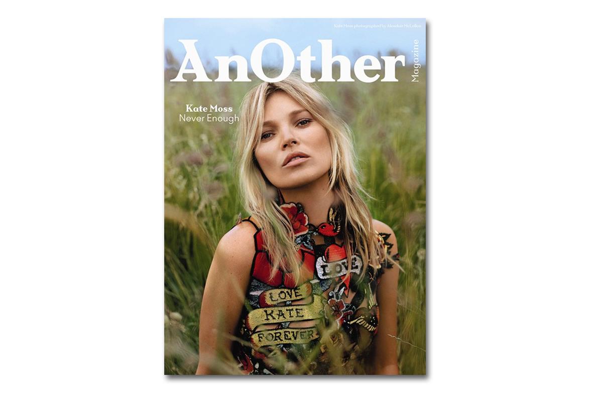 Kate Moss fait la couverture de AnOther Magazine Automne / Hiver 2014