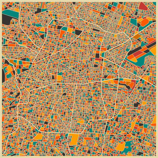 Cartographie Mexico Jazzberry Blue