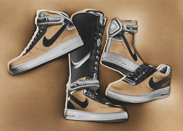 Riccardo Tisci x Nike Air Force 1 beige Drawing
