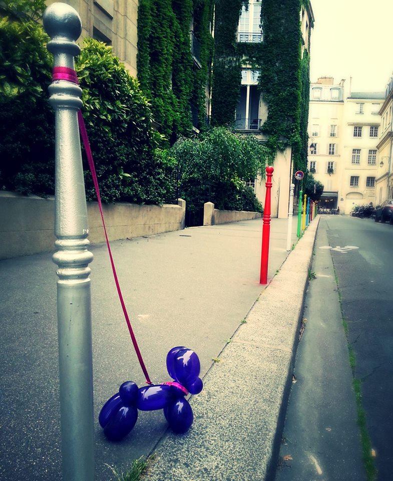 jeff koons balloon street