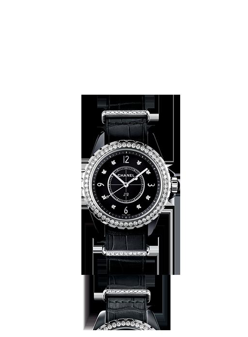 Chanel J12 G10 packshot noir