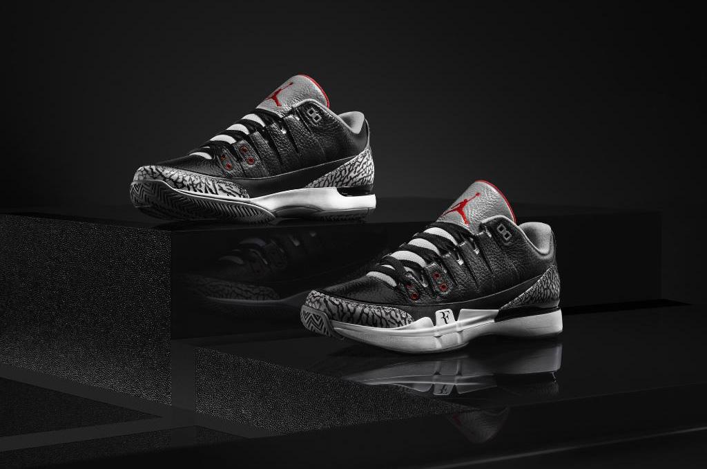 "Nike Court Zoom Vapor AJ3 ""Black Cement"""