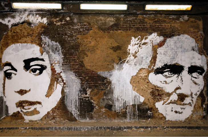 Vhils, Carving street art