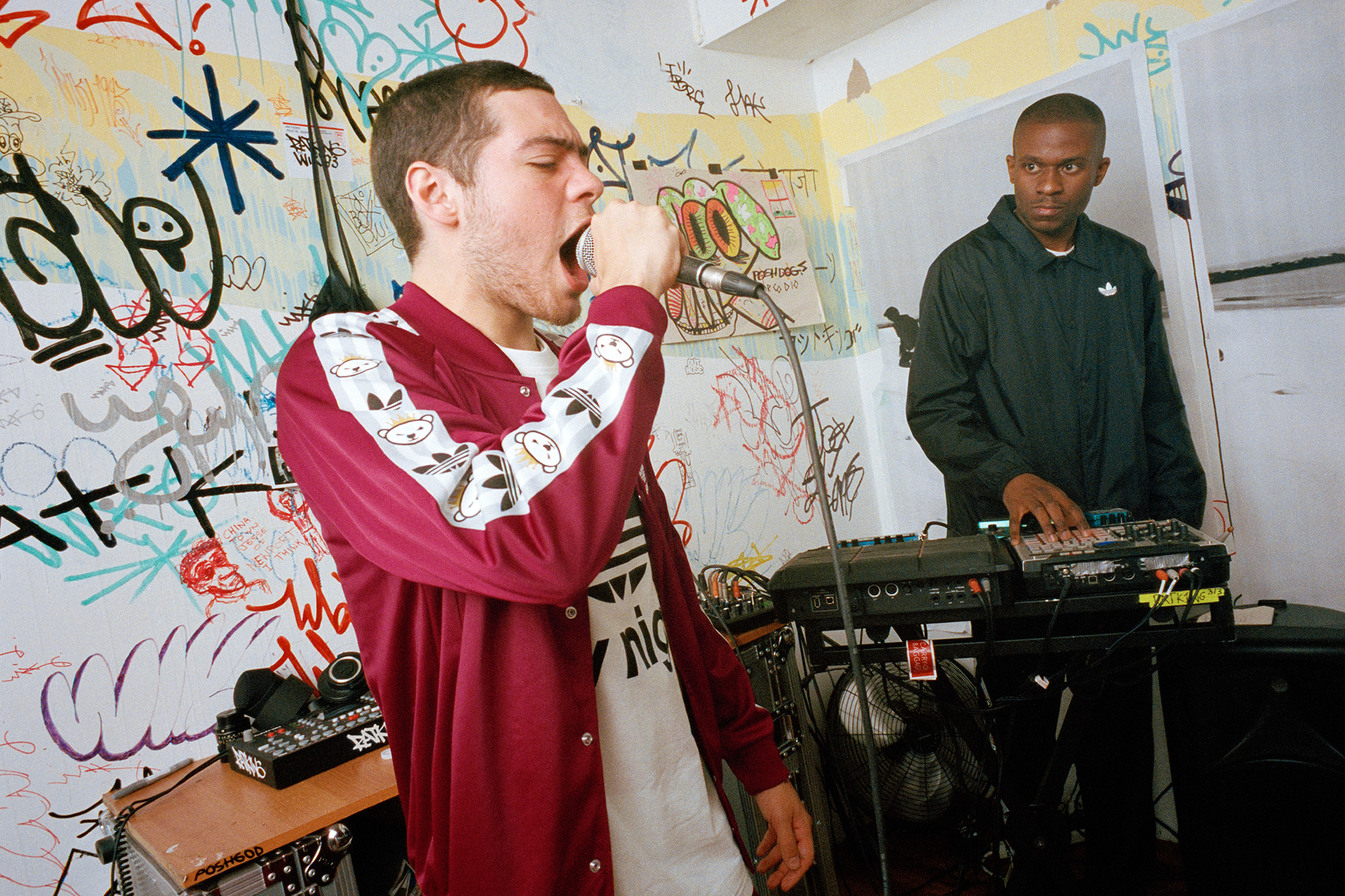 Ratking shooté par Ari Marcopoulos pour le lookbook d'adidas originals by Nigo