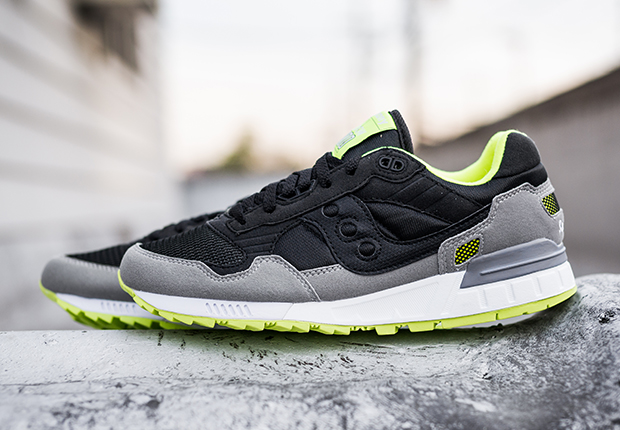Saucony Shadow 5000 Black Grey Neon