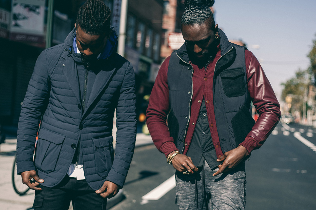La collection Armani Exchange Black Edition de Joshua Kissi & Travis Gumbs (Street Etiquette)