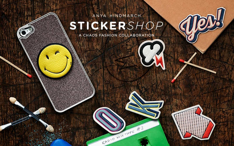 Les stickers en cuir d'Anya Hindmarch