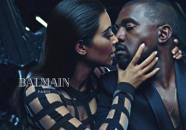 Kim Kardashian et Kanye West égéries de Balmain