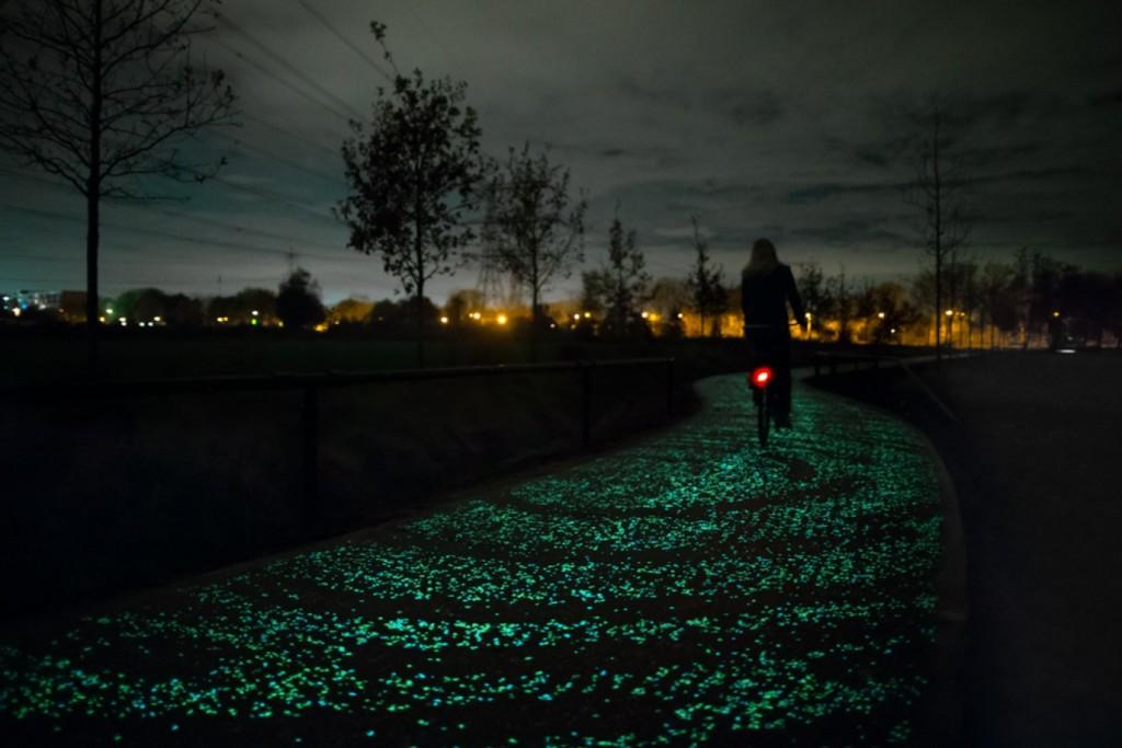 La piste cyclable phosphorescente