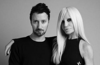 Anthony Vaccarello et Donatella Versace