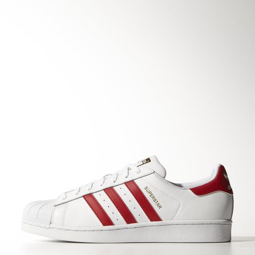 Adidas superstar 2 foundation pack white red