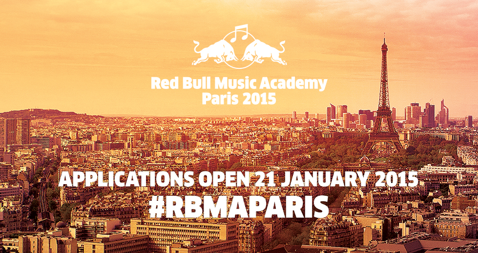 Inscriptions ouvertes pour la Red Bull Music Academy 2015 à Paris