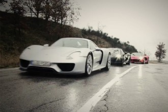 LaFerrari vs. Porsche 918 vs. McLaren P1 pour Top Gear