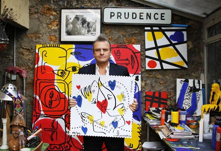 Jean-Charles de Castelbajac est au cœur du timbre