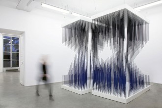 Galerie Perrotin, Jesus Rafael Soto, abstraction, installation, modernisme, art cinétique, chronochrome