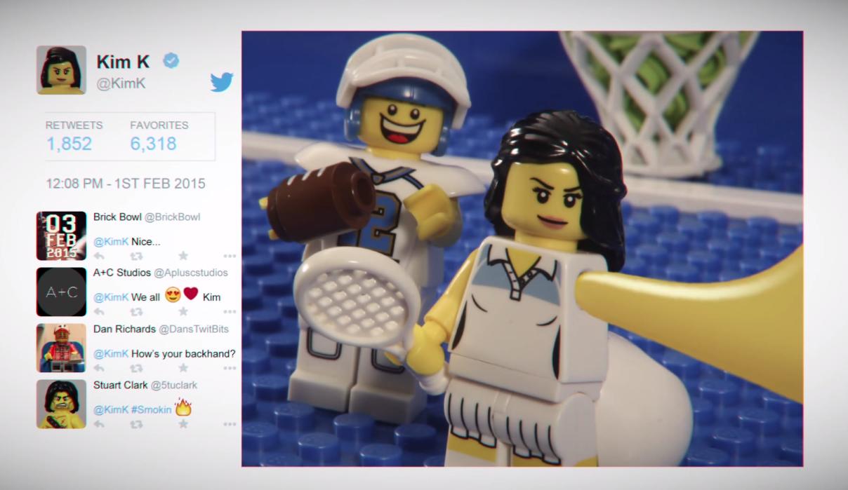 Kim Kardashian Selfie Ad Super Bowl Lego