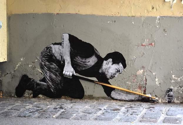 Levalet Street Art Billard