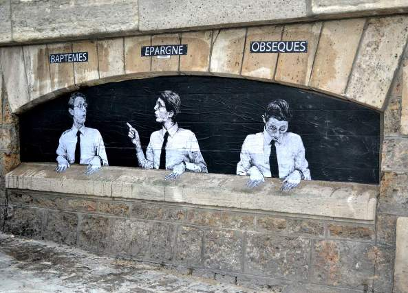 Levalet Street Art Le Guichet
