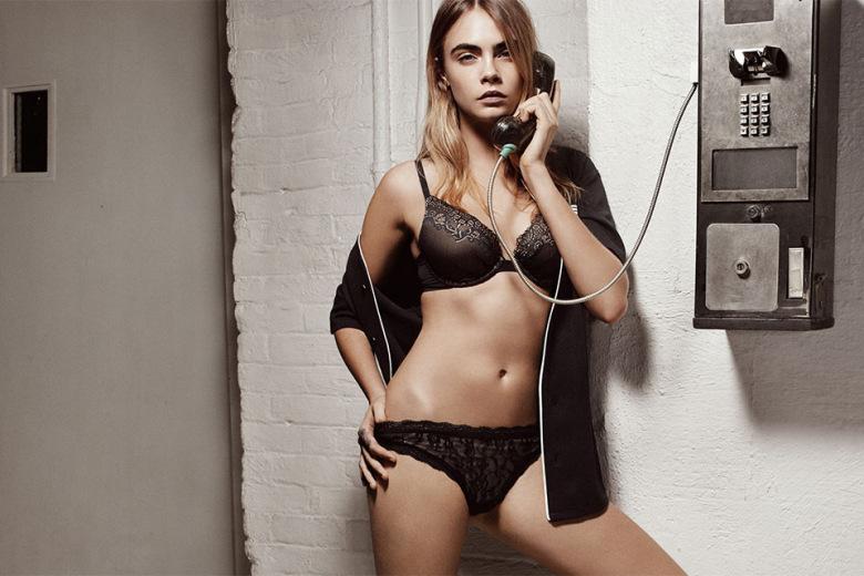 cara delevingne DKNY intimates campagne Spring Printemps 2015