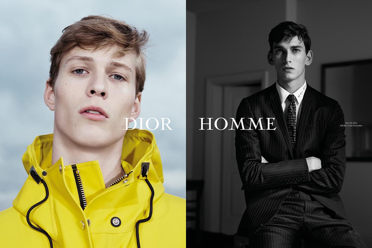 Dior Homme été 2015 la lettre campagne pub