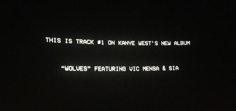 Kanye West Ft. Vic Mensa & Sia « Wolves »