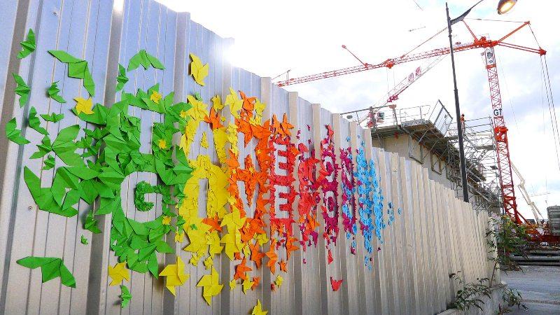 Mademoiselle Maurice Street Art origami