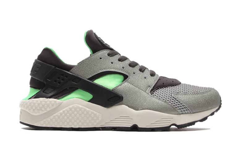 Nike Air Huarache – Mine Grey/ Midnight Fog Poison Green Black
