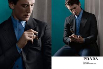 Miles Teller Prada menswear Spring Summer 2015